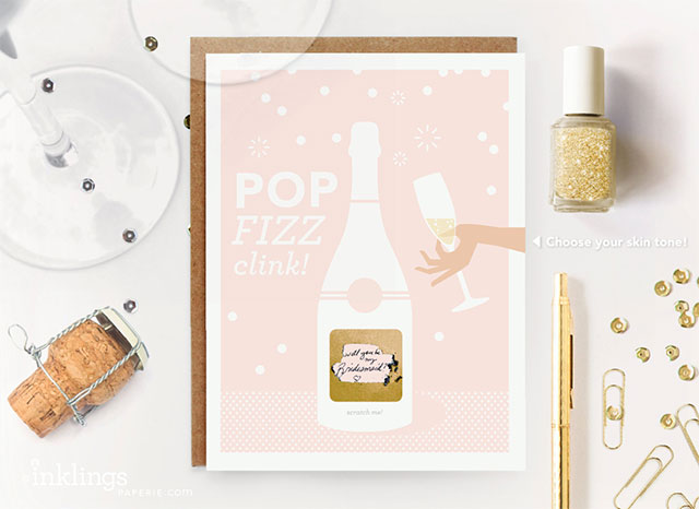 6 Scratch-Off Pop Fizz Clink Will You Be My Bridesmaid | 5 Adorable Ways to Propose to Your Bridesmaids