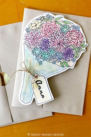 Bouquet Bridesmaid Card   5 Adorable Ways to Propose to Your Bridesmaids