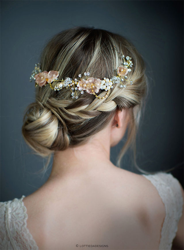 Spring Boho Wedding Headpiece by LottieDaDesigns on Etsy | The A to Z Guide to Planning an Etsy Wedding