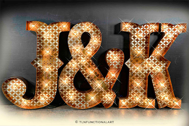 Marquee Letters by TLNFunctionalArt on Etsy | The A to Z Guide to Planning an Etsy Wedding