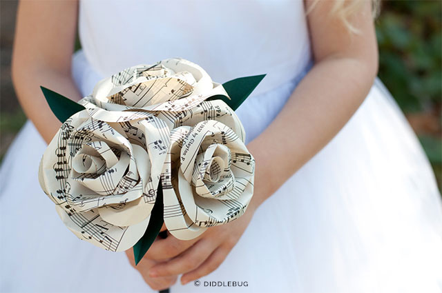 Paper Rose Nosegay by DiddleBug on Etsy | The A to Z Guide to Planning an Etsy Wedding
