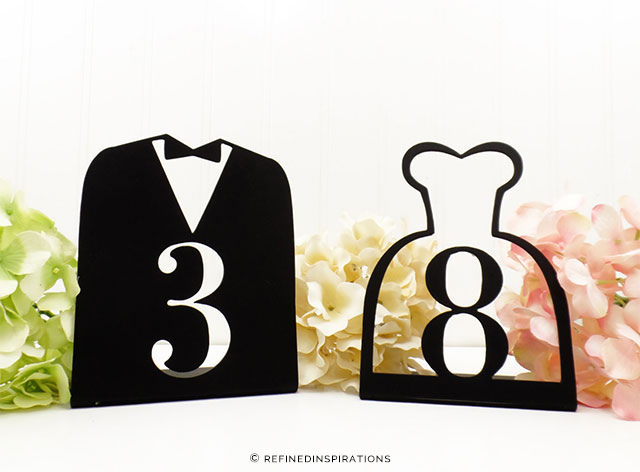 Bride & Groom Wedding Metal Table Numbers by RefinedInspirations on Etsy | The A to Z Guide to Planning an Etsy Wedding