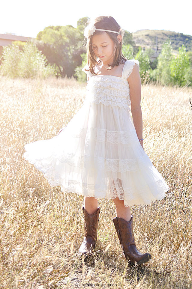 Ivory Flower Girl Dress by CountryCoutureCo on Etsy | The A to Z Guide to Planning an Etsy Wedding