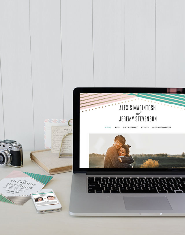 Minted's New Wedding Websites Help You Coordinate from Mailbox to Inbox