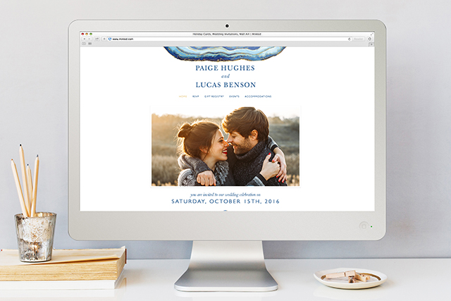 Gilt Agate Wedding Website   Minted's New Wedding Websites Help You Coordinate from Mailbox to Inbox