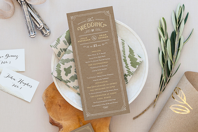 Hand Delivered Wedding Programs   Minted's New Wedding Websites Help You Coordinate from Mailbox to Inbox