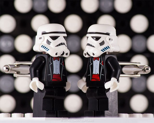 Star Wars Storm Trooper Lego Cufflinks by Retro Classy Cufflinks on Etsy | 10 Star Wars Wedding Ideas for Super Fans