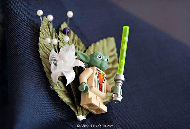Star Wars Boutonniere by ABrideLessOrdinary on Etsy | 10 Star Wars Wedding Ideas for Super Fans
