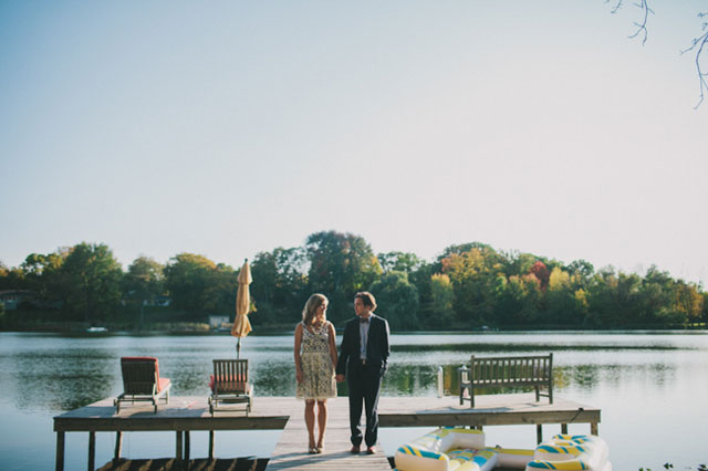 An intimate and romantic rehearsal dinner on the lake | Abbey Moore Photography: http://abbeymoore.net/