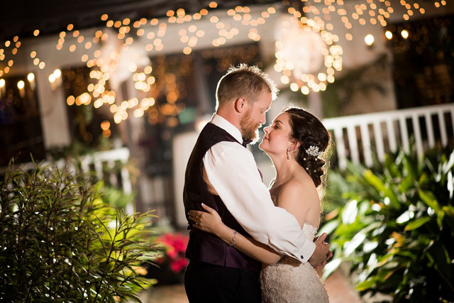 A beautiful winter plum and silver bayside wedding in Pensacola by Aislinn Kate Photography