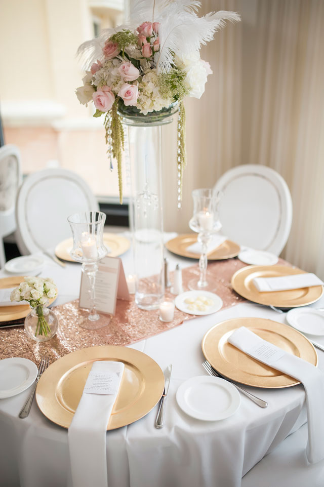 A stunning rose gold waterside wedding in Florida with a fabulous Hayley Paige gown | Aislinn Kate Photography