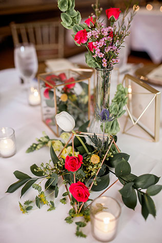 A gorgeous jewel toned garden wedding at an historic venue in Savannah by Alexis Sweet Photography and Britt Giltenan Events