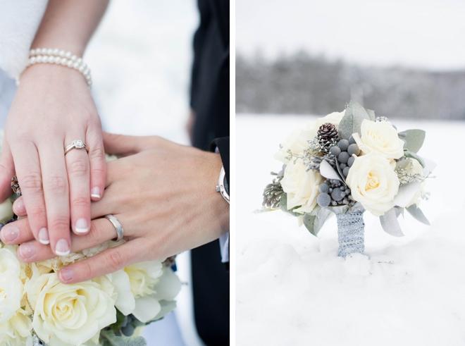 Snowy Winter Wedding by Alison Mish Photography on ArtfullyWed.com