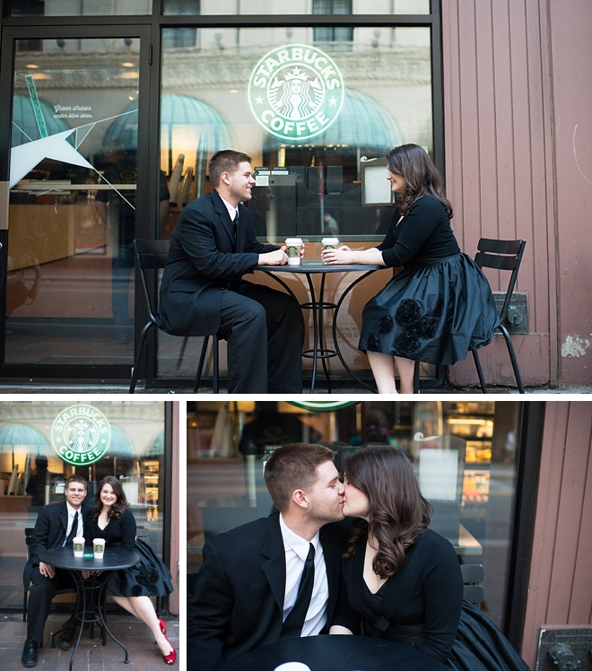 Downtown Pittsburgh Engagement by Alison Mish Photography