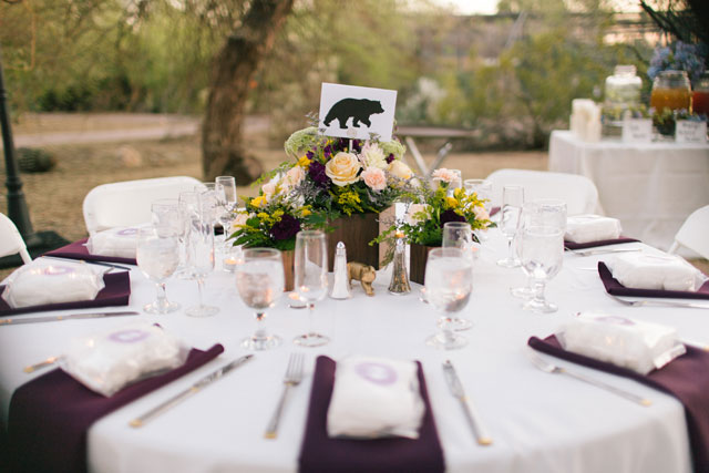 An elegant and rustic animal-themed Phoenix Zoo wedding by Alyssa Campbell Photography