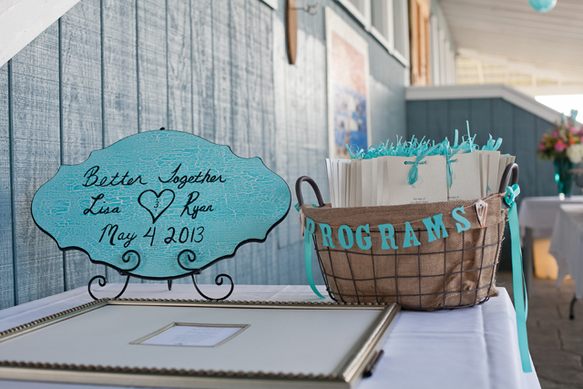 A creative DIY beach wedding with pops of aqua and fuchsia // photos by Amanda Manupella Photography: http://www.amandamanupella.com || see more on https://blog.nearlynewlywed.com