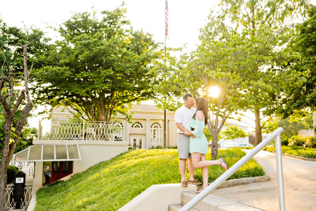 A summer engagement shoot in downtown Athens, GA | Andie Freeman Photography: http://www.TheAthensWeddingPhotographer.com