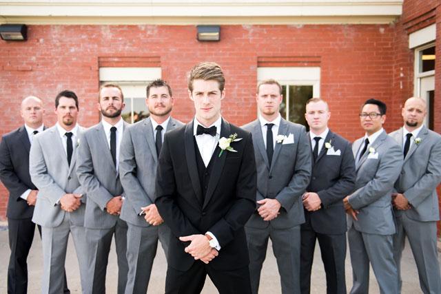 A chic DIY gray lakeside wedding in Dallas by Andrea Elizabeth Photography