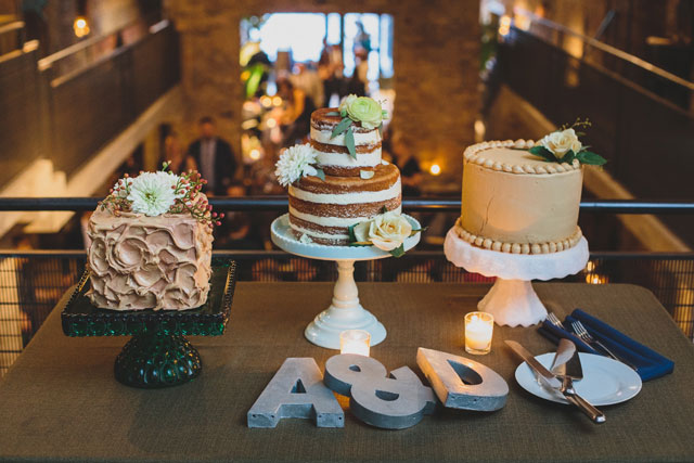 A stylish and chic loft wedding at a floral shop in Chicago by Angela Renée Photography