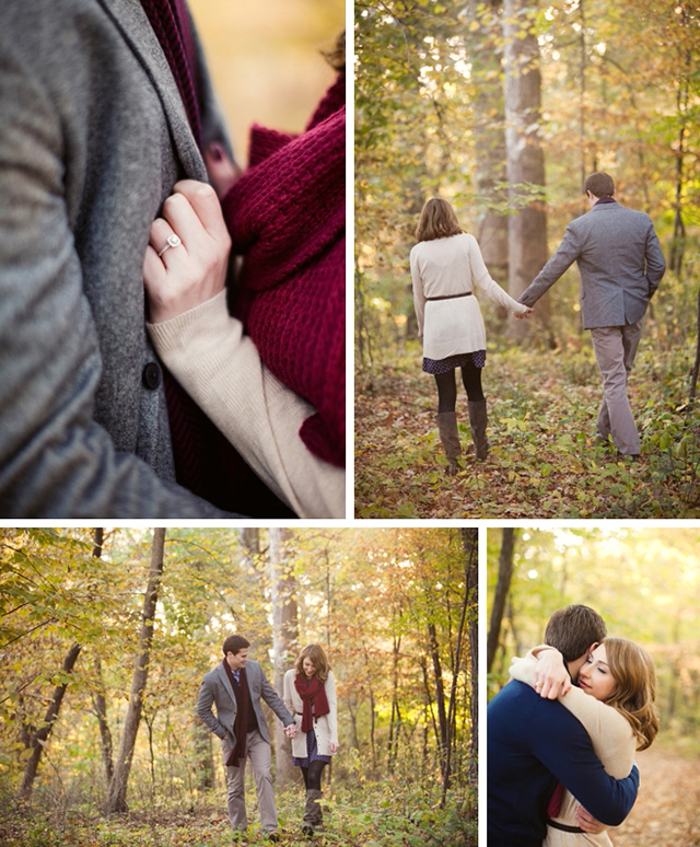 Autumn hiking engagement session by Artistrie Co. || see more on blog.nearlynewlywed.com