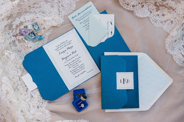 A sea inspired Greek wedding ceremony in St. Petersburg with a palette of blues and sea foam green by Ashlee Hamon Photography