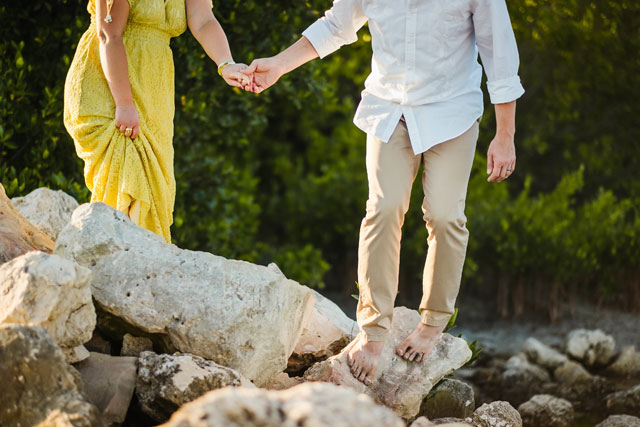 A colorful and tropical Bali inspired anniversary shoot at sunset on the beach in Tampa by Ashlee Hamon Photography and Daly Digs