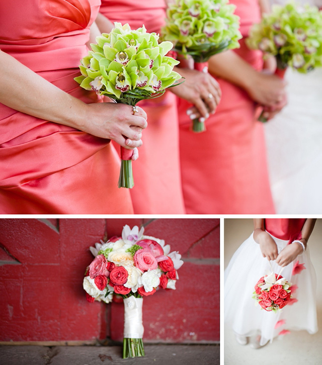 A stunning floral wedding in shades of green by Ashley Bartoletti Photography    see more on blog.nearlynewlywed.com