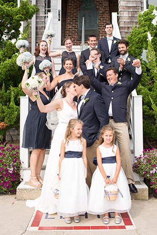 A preppy yacht club wedding with a fresh palette of navy and lime by Ashley Mac Photographs and Bogath Weddings & Events