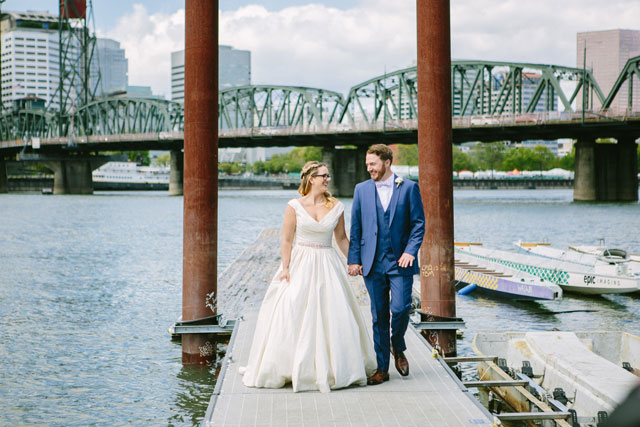 A beautiful and creative handmade wedding for a couple married in Portland by Becca Blevins Photography and Peachy Keen Coordination