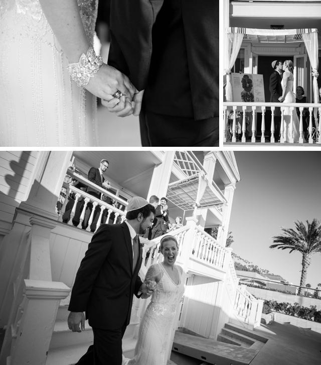 An elegant Jewish wedding on the beach in Santa Monica by Best Coast Photo || see more on blog.nearlynewlywed.com