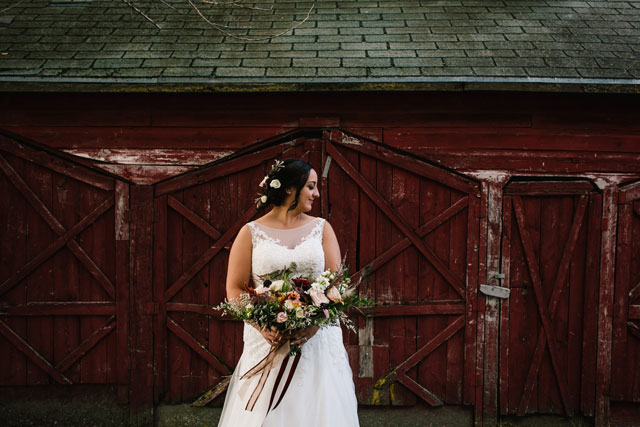 A rustic yet chic barn wedding in Canada with a natural palette of purple, pink and gray by blfStudios Inc. and Melanie Parent Events