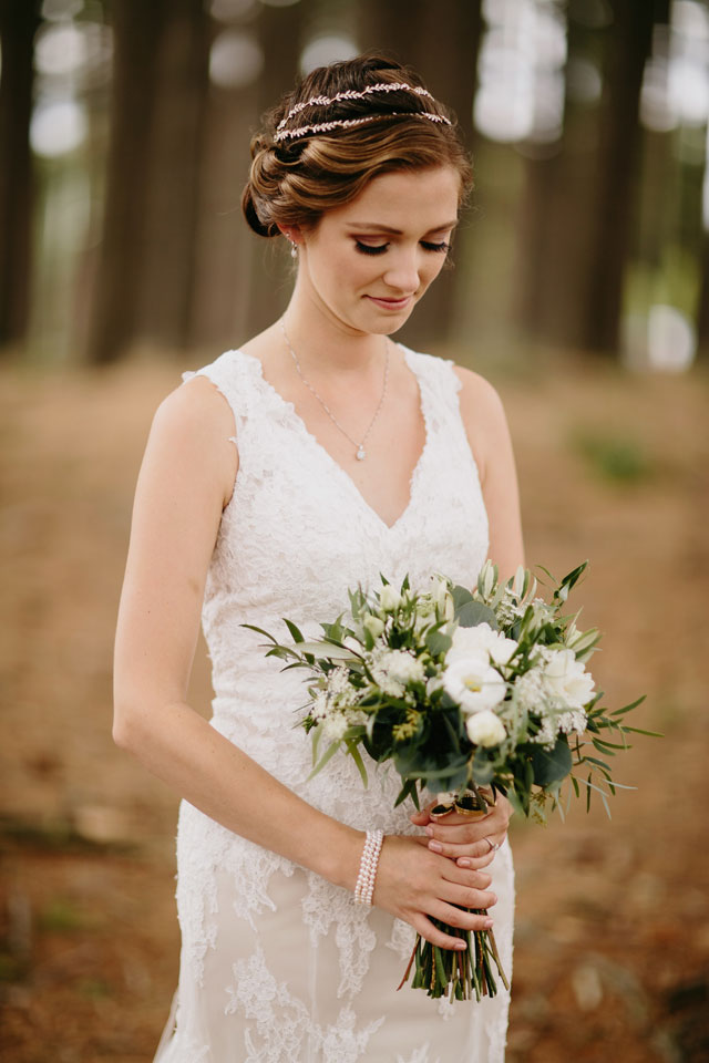 A classic green and gold wedding for a Go Green couple on the MSU campus by Brad and Jen Photography and All Grand Events