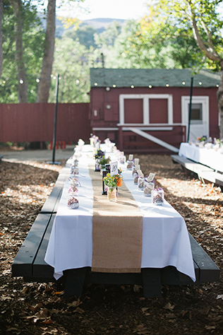 A rustic purple wedding at a popular summer camp in Bommer Canyon // photos by Brandi Welles Photographer: http://www.brandiwellesphotographer.com || see more on https://blog.nearlynewlywed.com