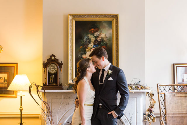 An intimate Pittsburgh bed and breakfast wedding in lavender by Breanna Elizabeth Photography