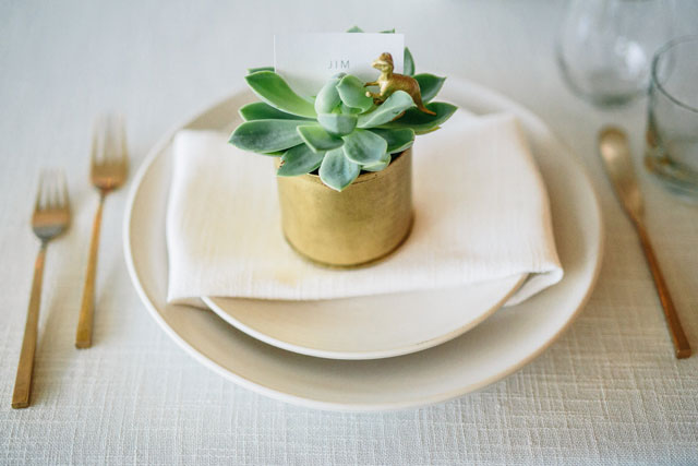 A desert inspired Palm Springs wedding with cacti and succulents by Brett and Tori Photographers