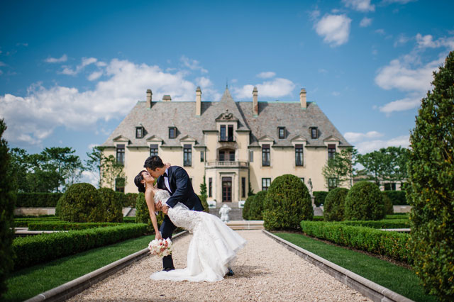 A grand and romantic spring wedding at Oheka Castle in New York | Brian Hatton Photography: http://www.brianhattonweddings.com