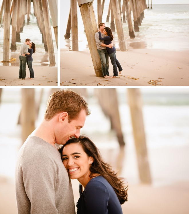 Hermosa Beach Pier Engagement Session by Brian Leahy Photography on ArtfullyWed.com