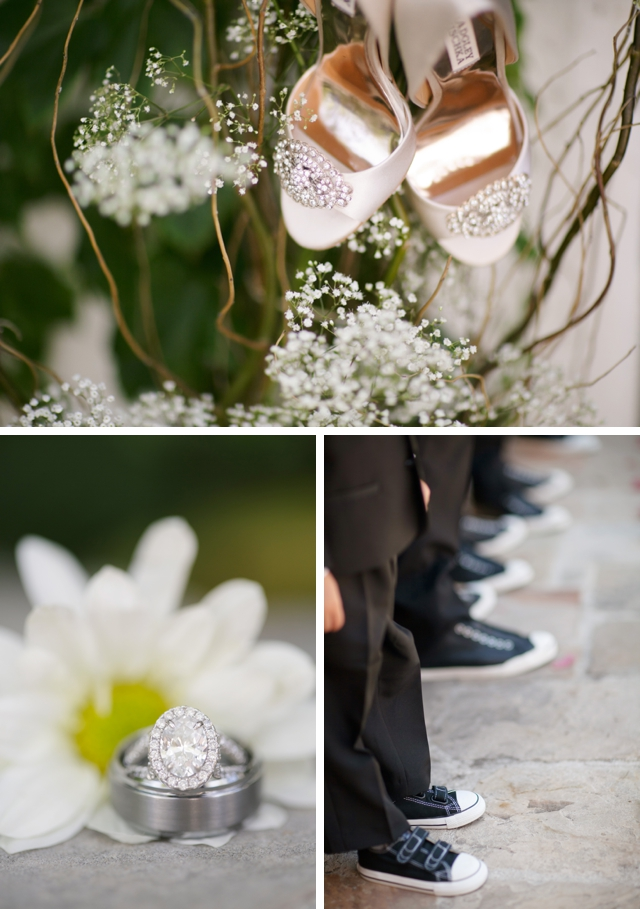 A stunning summer DIY wedding at a Spanish-style villa by BrittRene Photo || see more on blog.nearlynewlywed.com