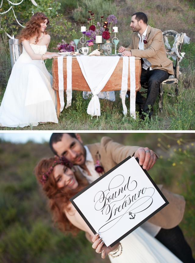 A beach without the beach styled shoot by Becca Rillo Photography || see more on blog.nearlynewlywed.com