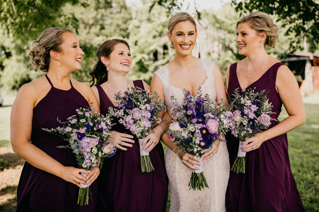 A gorgeous rustic French country wedding at Briar Rose Hill filled lavender and dried flowers by Caitlin Steva Photography