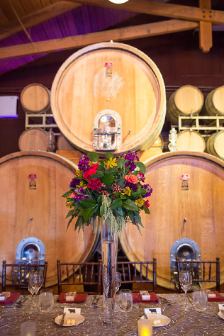 A romantic and elegant jewel-toned winery wedding at Ponte Winery in Temecula // photos by Camarie Photography: http://camarie-photography.com || see more at: https://blog.nearlynewlywed.com/real-couples/weddings/jewel-toned-southern-california-winery-wedding