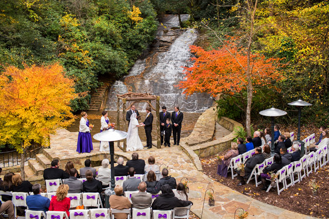 A perfect and intimate autumn wedding at Chota Falls in the mountains of Northern Georgia   Cariad Photography: http://cariadphotography.com