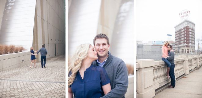 Downtown Kansas City Engagement by Cassandra Castaneda Photography on ArtfullyWed.com