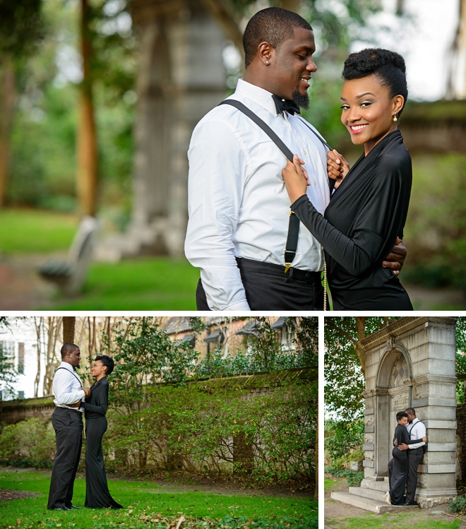 Old Hollywood Engagement Session by Charleston Wedding Photography on ArtfullyWed.com