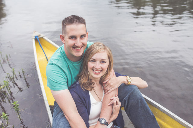 A canoeing love shoot on a stormy summer day at Spider Lake // photos by Chelsea Dawn Photography & Makeup Artistry: http://www.chelseadawn.ca || see more on https://blog.nearlynewlywed.com