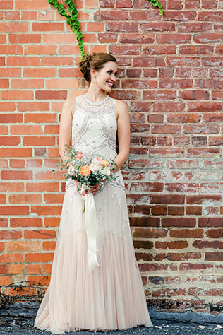 An urban vineyard wedding in Virginia including the groom's daughter by Christy McKee Photography