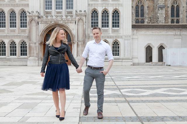 An adorable spring engagement session amongst historical sites in London | Corette Faux: http://www.corettefaux.co.uk