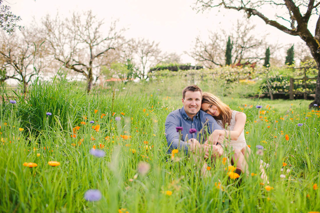 A romantic spring California wine country engagement session at Kendall-Jackson Estate & Gardens // photos by Courtney Stockton Photography: http://www.courtneystockton.com || see more at: https://blog.nearlynewlywed.com/real-couples/engagements/california-wine-country-engagement-session/