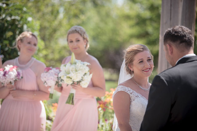 A charming, intimate summer garden wedding in Alberta with an ice cream truck | Crown Photography