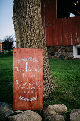 An early autumn lakeside ranch wedding in a subtle palette of blush and gray by Dan Stewart Photography